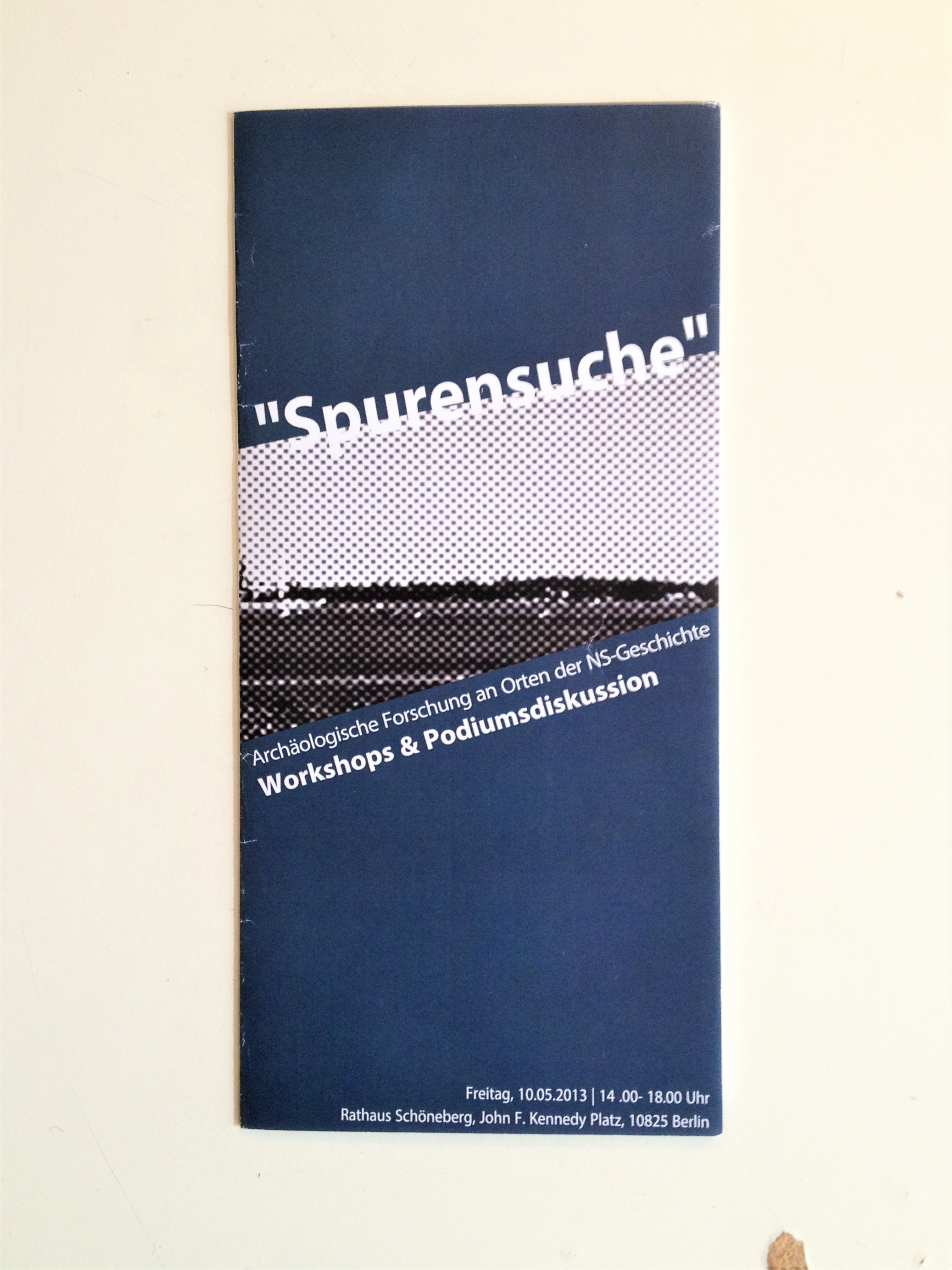 """""""Spurensuche"""" (2013) - Flyer"""