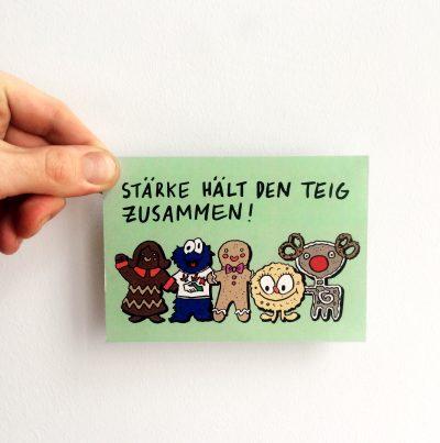 """""""Stärke hält den Teig zusammen"""" Postkarte für die Naturfreunde Hessen e. V. (2019)"""