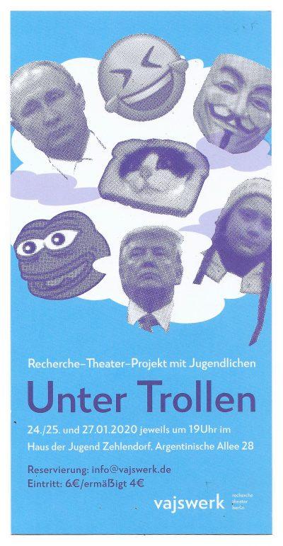 Unter Trollen - Flyer (2020)